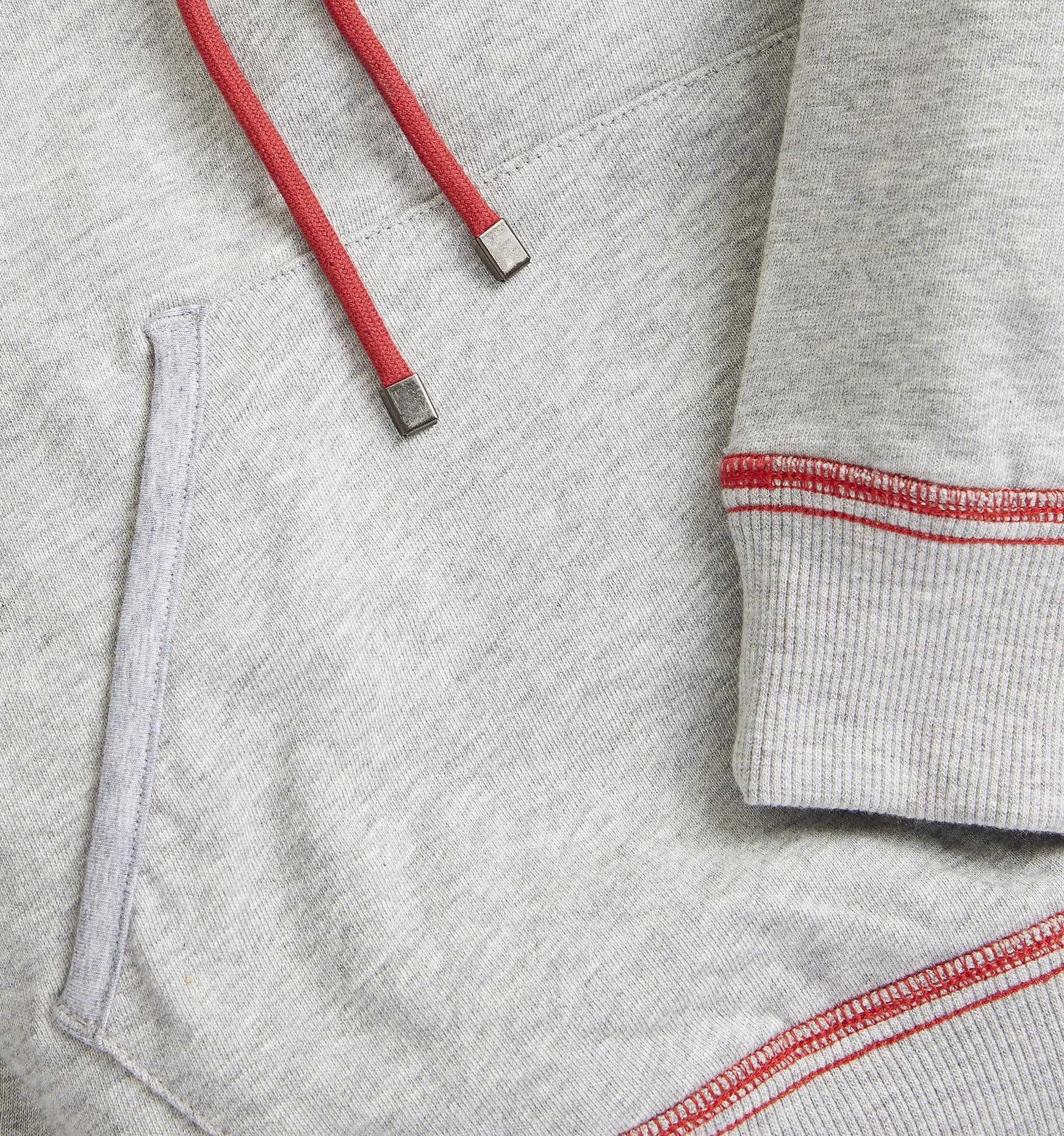 032ef6b8bf7 French Terry Pullover Hoodie - Heather Grey with Rainbow Stripe-TomboyX