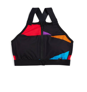 Exclusive: Swim Halter Zip Top - Rainbow Highlight-Swim-TomboyX