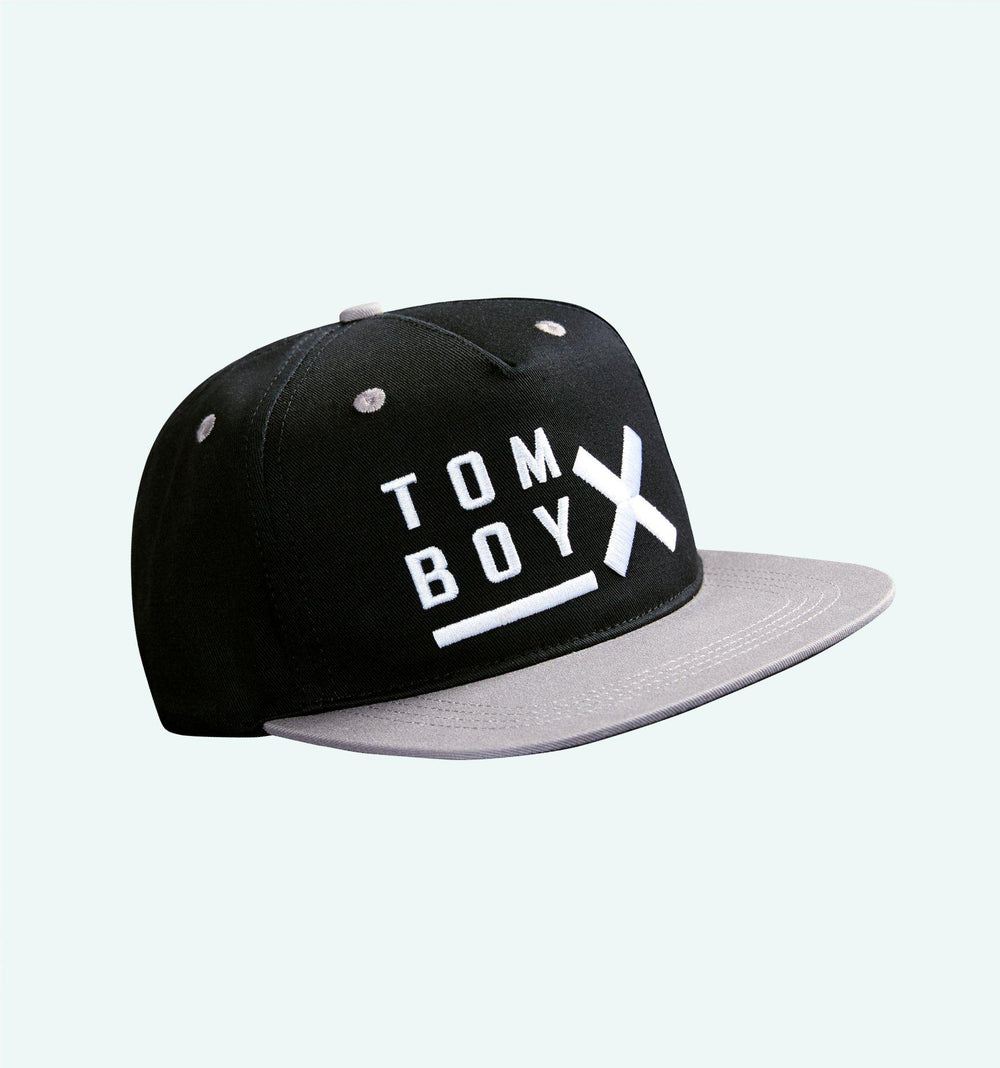 TomboyX Snapback - Black & Grey-BlackGrey-TomboyX