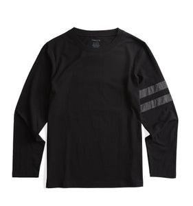 Long Sleeve Pajama Top - Black with Charcoal-Sleepwear-TomboyX