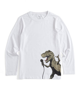Long Sleeve Pajama Top - Tyrannosaurus Rocks-Sleepwear-TomboyX