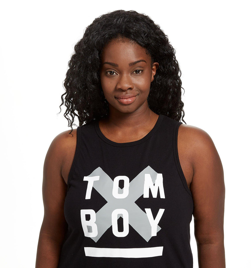 Muscle Tank - TomboyX #HumanAgenda Black