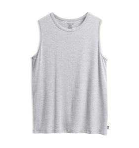 Muscle Tank - TENCEL™ Modal Heather Gray-Sleepwear-TomboyX