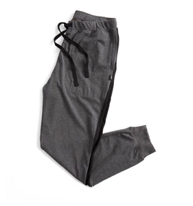 Pajama Jogger - Charcoal with Black Side Stripes-Sleepwear-TomboyX