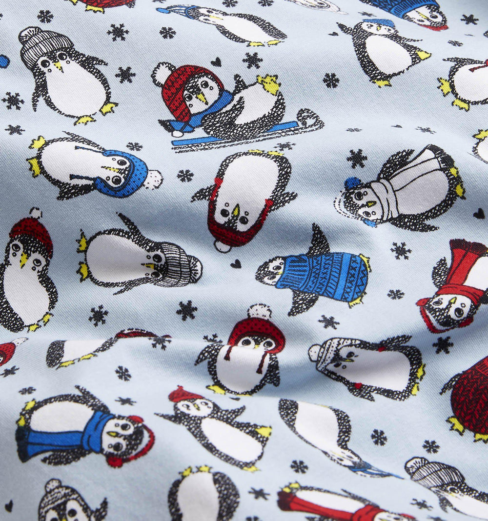 Short Sleeve Pajama Top - Chilly Penguins-TomboyX