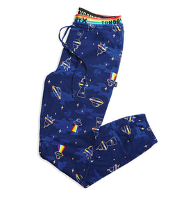 Peekaboo PJ Jogger - Rainbows in Space Print-Sleepwear-TomboyX