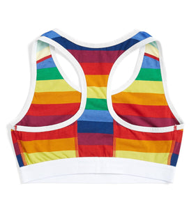 Racerback Soft Bra - Rainbow Pride Stripes-Bra-TomboyX