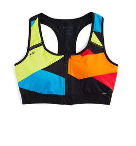 Exclusive: Swim Racerback Zip Top - Rainbow Highlight-Swim-TomboyX
