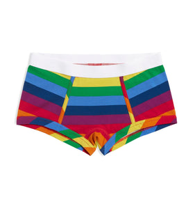 Boy Shorts - Rainbow Pride Stripes-Underwear-TomboyX