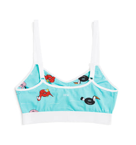 Ruched Bralette - Pool Party Print-Bra-TomboyX