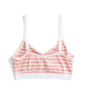 Ruched Bralette - Red & White Stripes Print-Bra-TomboyX