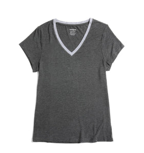 Short Sleeve Pajama Top - MicroModal Charcoal-Sleepwear-TomboyX