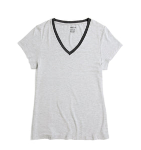 Short Sleeve Pajama Top - MicroModal Heather Gray-Sleepwear-TomboyX