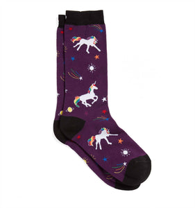 Exclusive: Socks - Purple Rainbow Unicorn-Socks-TomboyX