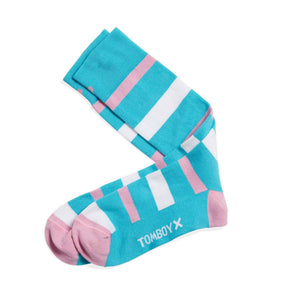Exclusive: Socks - Trans Pride Stripes-Socks-TomboyX