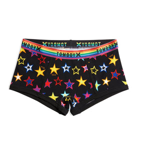 Boy Shorts - Star Bright Print-Underwear-TomboyX