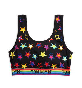 Essentials Soft Bra - Star Bright Print -Bra-TomboyX