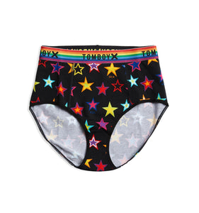 High Rise Bikini - Star Bright Print-Underwear-TomboyX