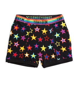 High Rise Boy Shorts - Star Bright Print-Underwear-TomboyX