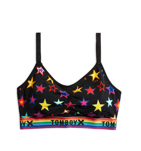 Ruched Bralette - Star Bright Print-Bra-TomboyX