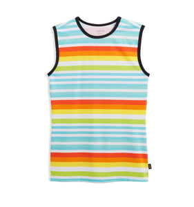 Swim Tank - Sunset Stripes-Swim-TomboyX