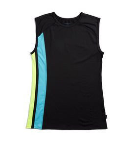 Exclusive: Swim Tank - Black with Island Blue & Neon Yellow-Swim-TomboyX