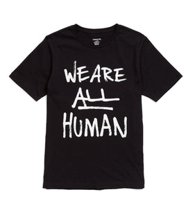 Tee - We Are All Human Black-T-shirt-TomboyX