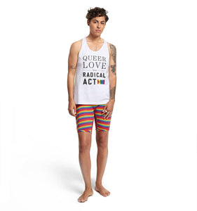 Racerback Tank - Queer Love is a Radical Act White-Tank Tops-TomboyX