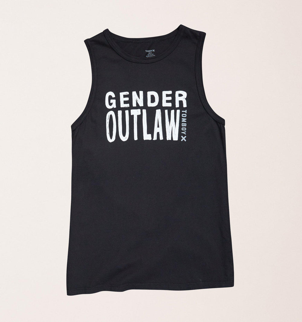 Gender Outlaw Muscle Tank - Black-TomboyX