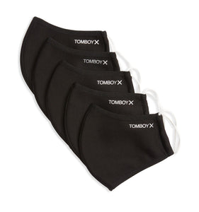 5 Pack TomboyX Masks - Black-Accessories-TomboyX