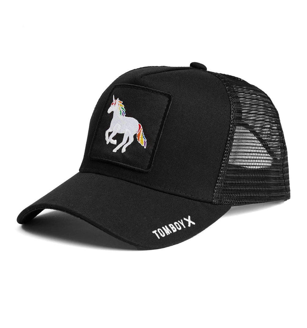 Trucker Hat - Rainbow Unicorn-Hat-TomboyX