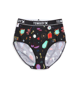High Rise Bikini - Witches' Brew Print-Underwear-TomboyX