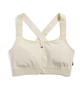 Exclusive: Adaptable Zip Front Bra - Ivory-Bra-TomboyX