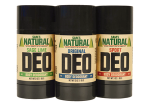 Natural Deodorant that works by Sam's Natural