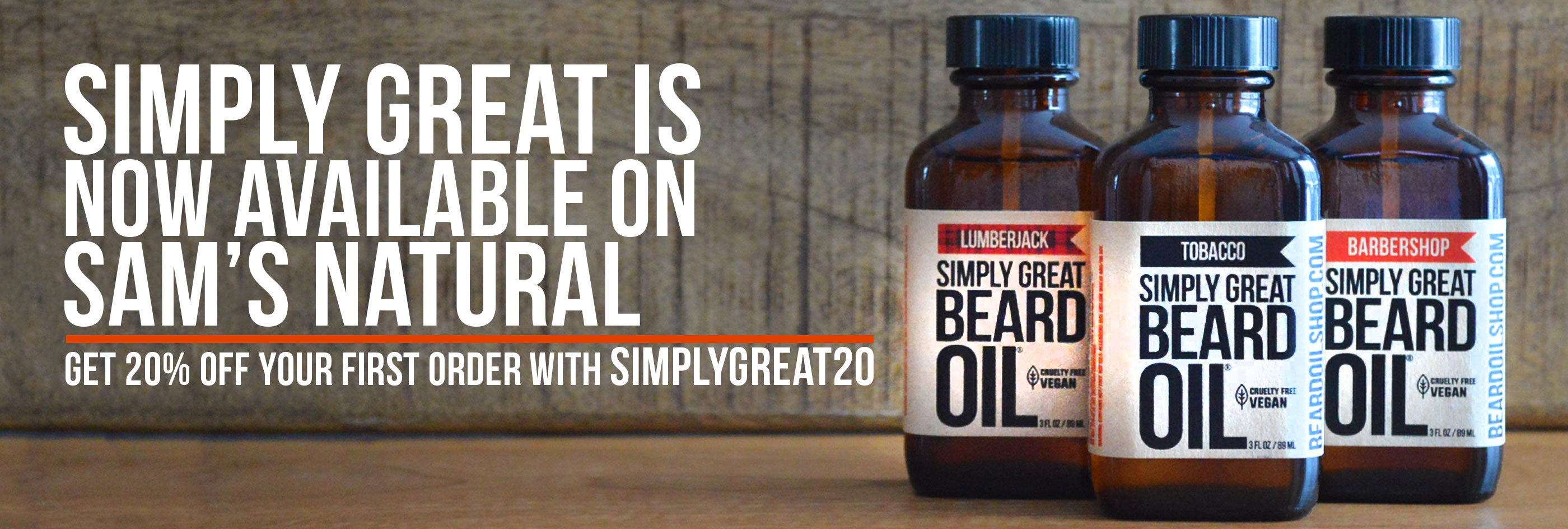 Simply the best beard oil known to man - Sam's Natural Simply Great Beard Oil