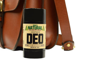 Aluminum Free, Chemical Free Leather Scented Natural Deodorant