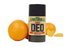 Aluminum Free, Chemical Free Sport Scented Natural Deodorant - Citrusy