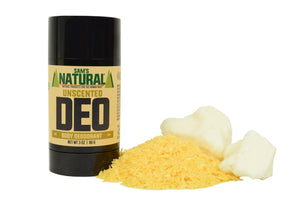 Aluminum Free, Chemical Free Unscented Natural Deodorant