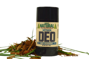 Aluminum Free, Chemical Free Vetiver Scented Natural Deodorant