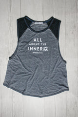 ALL ABOUT THE INNER (G) RAGLAN MUSCLE TEE REVERENCE APPAREL