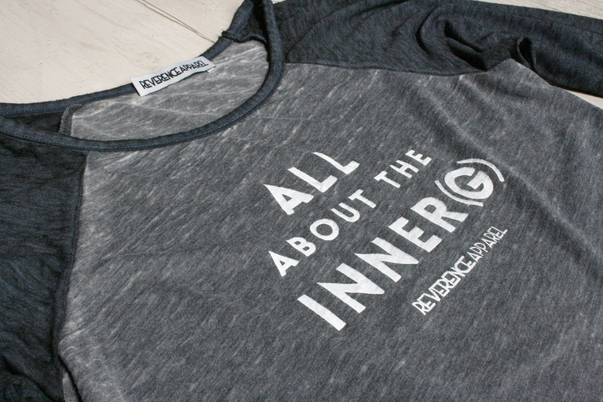 ALL ABOUT THE INNER (G) RAGLAN BASEBALL TEE REVERENCE APPAREL