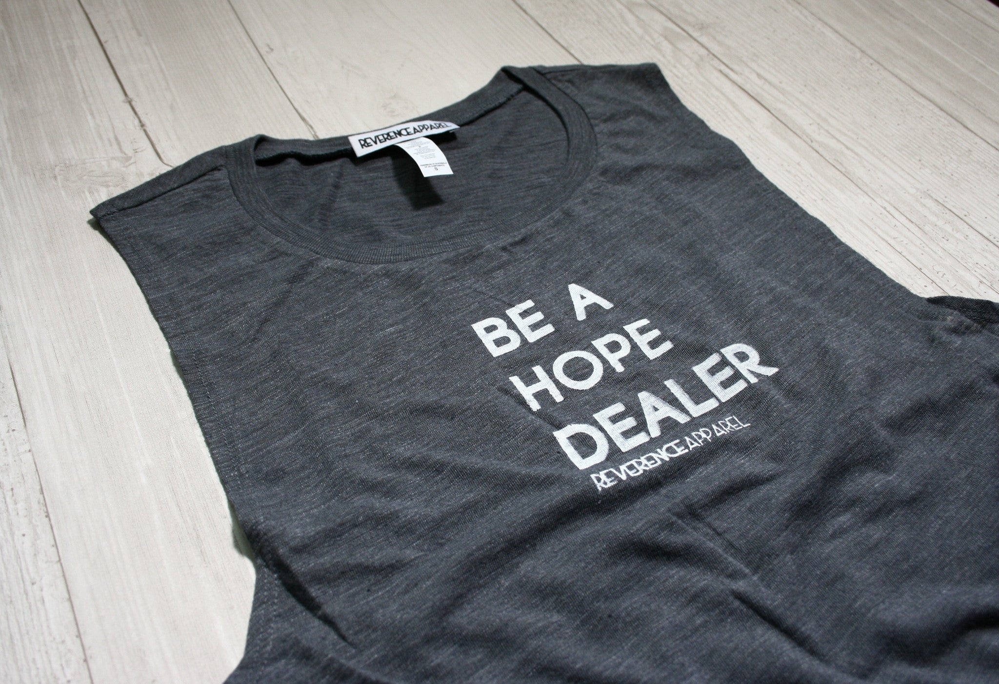 BE A HOPE DEALER SLEEVELESS MUSCLE TANK, , Tank, Reverence Apparel, Reverence Apparel   - 2