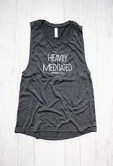 HEAVILY MEDITATED DECKLYN MUSCLE GRAPHIC TANK, , Tank, Reverence Apparel, Reverence Apparel   - 1