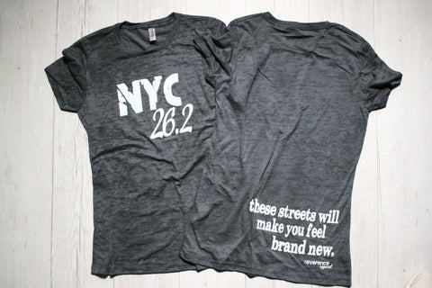 NYC 26.2 BURNOUT TEE REVERENCE APPAREL
