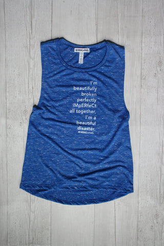 MANIFEST AND CHILL RAGLAN MUSCLE TANK