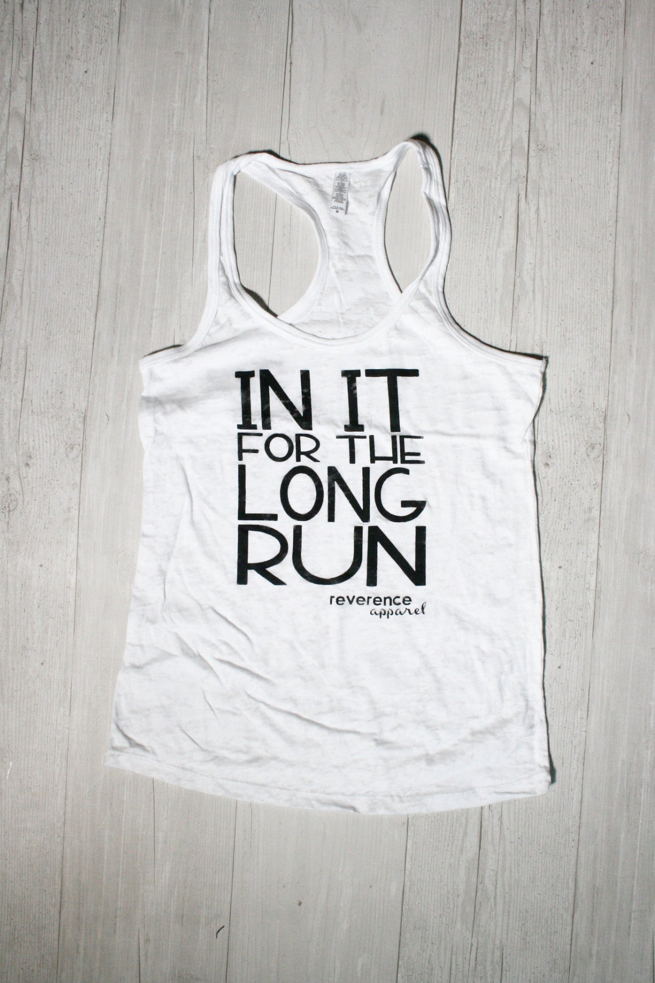 IN IT FOR THE LONG RUN RACERBACK BURNOUT TANK