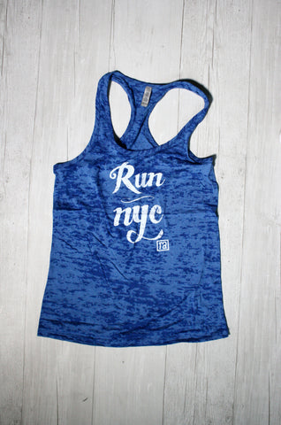 RUN NYC RACERBACK BURNOUT TANK