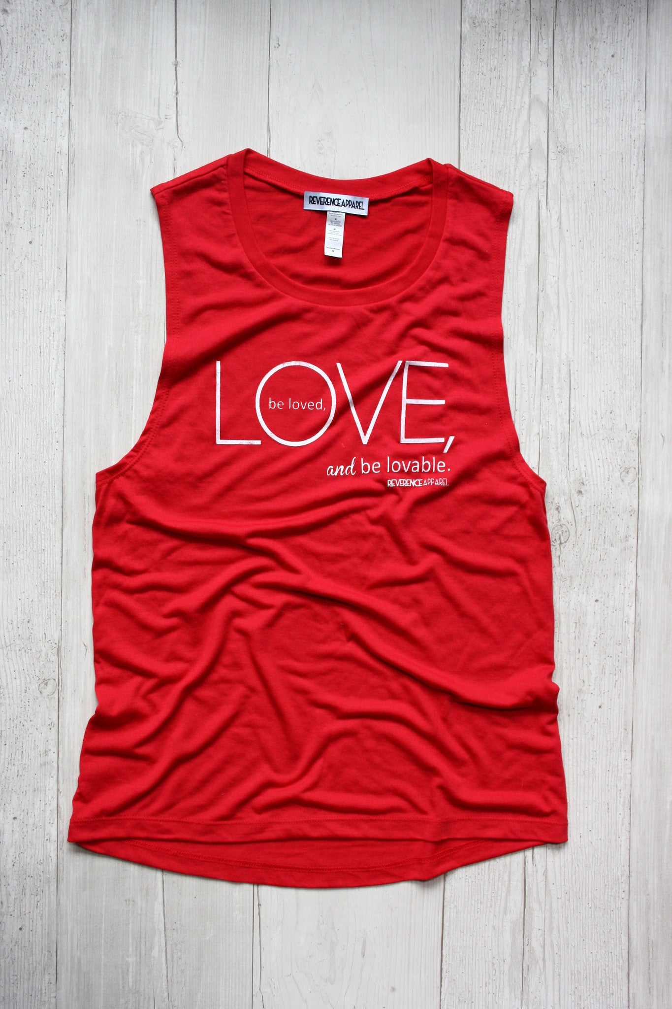 Love, Be Loved, Be Loveable Yoga Muscle Tank Top, , Tank, Reverence Apparel, Reverence Apparel   - 1
