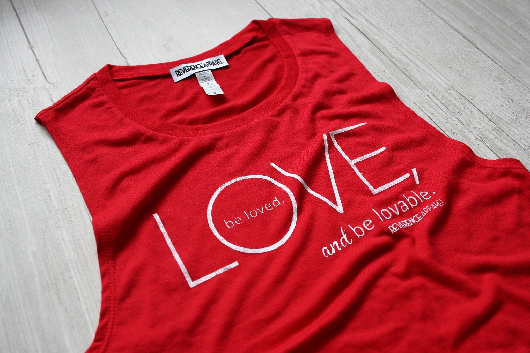 Love, Be Loved, Be Loveable Yoga Muscle Tank Top, , Tank, Reverence Apparel, Reverence Apparel   - 2