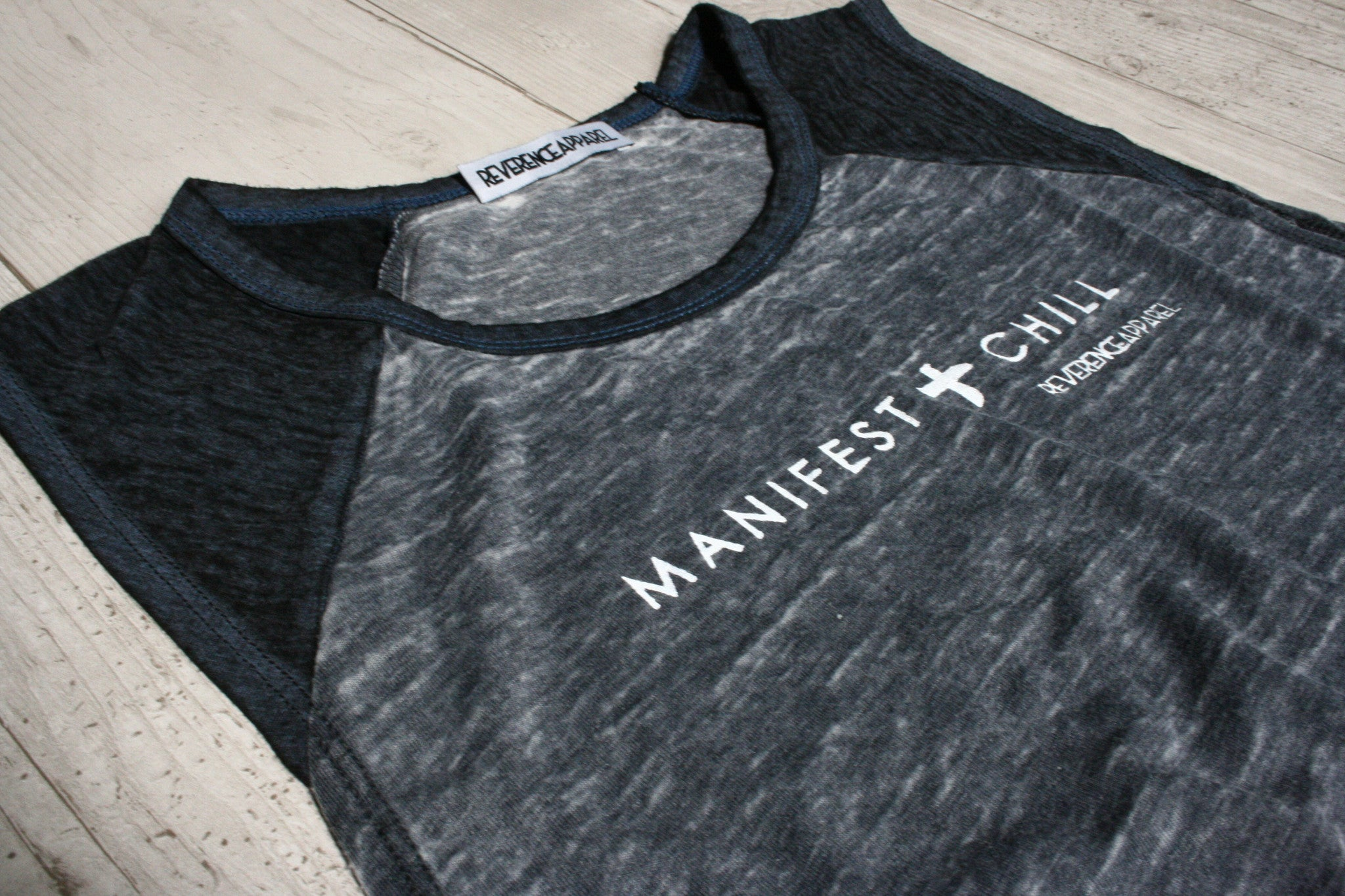 MANIFEST AND CHILL RAGLAN MUSCLE TEE REVERENCE APPAREL